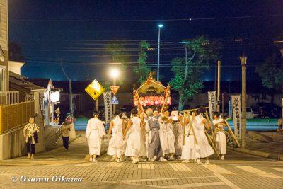北海道,姥神大神宮渡御祭,山車,平成28年,江差町,上町巡行,神輿