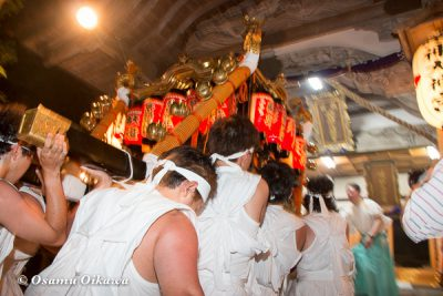 北海道,姥神大神宮渡御祭,山車,平成28年,江差町,上町巡行,神事,宿入之儀,神輿