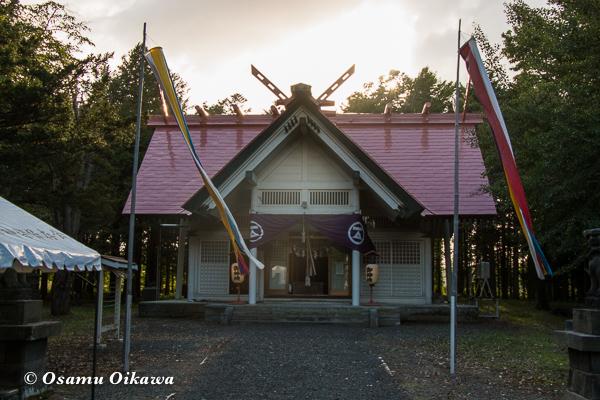 北海道 江別市 野幌神社 宵宮祭 拝殿