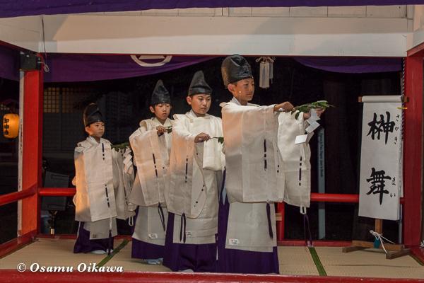 北海道 江別市 野幌神社 宵宮祭 野幌太々神楽 榊舞