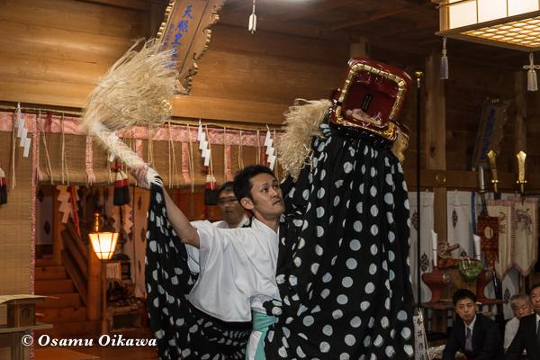 北海道 福島町 福島大神宮 松前神楽 十二の手獅子舞五方