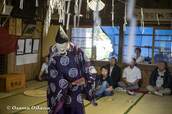 北斗市 文月稲荷神社 松前神楽 52年ぶり 翁舞