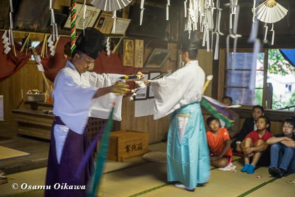 北斗市 文月稲荷神社 松前神楽 52年ぶり 神遊舞