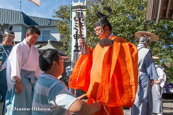 福島町 福島大神宮渡御祭 2日目 神社行列準備