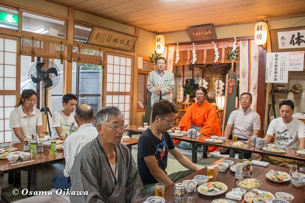 福島町 福島大神宮渡御祭 2日目 直会