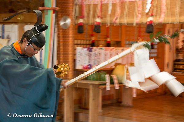 平成28年 福島大神宮 本祭 松前神楽 祝詞舞 榊舞
