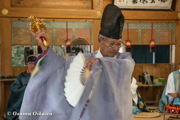 平成28年 福島大神宮 本祭 松前神楽 鈴上舞 巫女舞