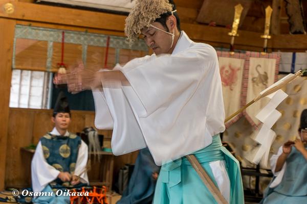 平成28年 福島大神宮 本祭 松前神楽 山神舞
