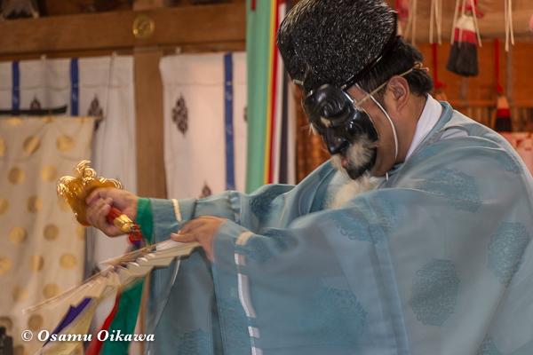 平成28年 福島大神宮 本祭 松前神楽 三番叟舞