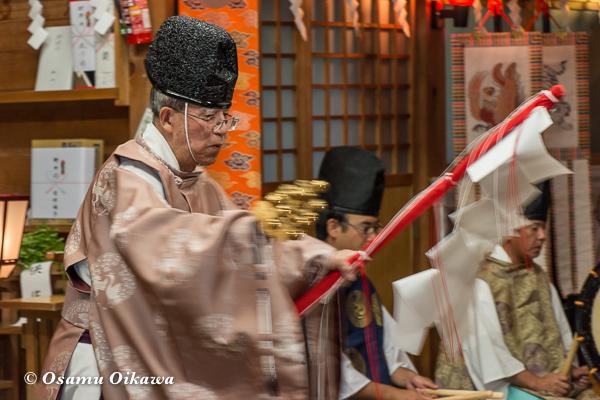 上磯八幡宮 松前神楽 榊舞