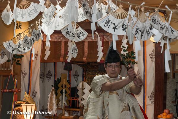 平成29年 福島町 船魂祭 松前神楽 注連祓舞