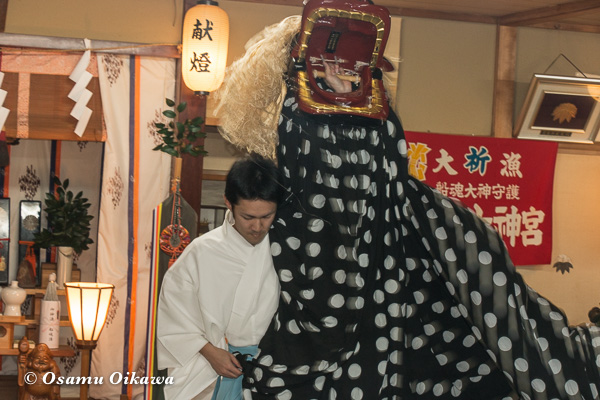 平成29年 福島町 船魂祭 松前神楽 十二の手獅子舞五方