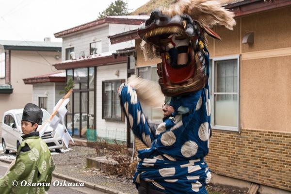 松前町 原口地区 門祓い神事 獅子