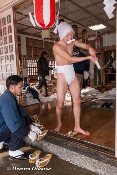 平成29年 木古内町 佐女川神社 寒中みそぎ祭 稲荷の仕事
