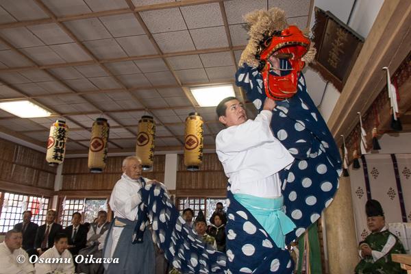 平成29年 木古内町 佐女川神社 寒中みそぎ祭 本祭 松前神楽 十二の手獅子舞・五方