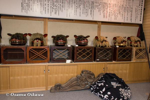 平成29年 山形県長井市 総宮神社 獅子展示室
