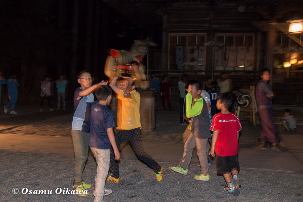 平成29年 山形県長井市 総宮神社境内 練習風景