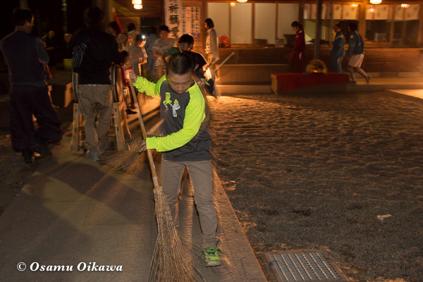 平成29年 山形県長井市 総宮神社境内 練習終了