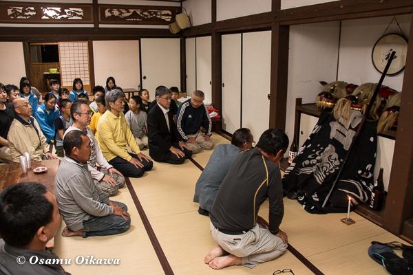 平成29年 山形県長井市 総宮神社境内 直会
