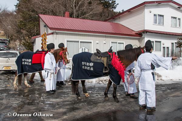 平成29年 平取町 義経神社 初午祭 出発前