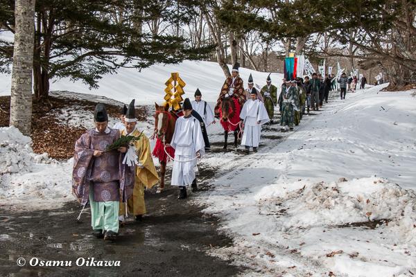 平成29年 平取町 義経神社 初午祭 境内練り歩き