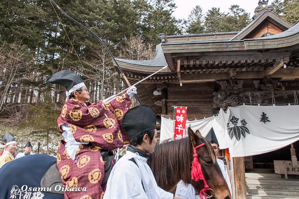 平成29年 平取町 義経神社 初午祭 矢刺しの神事