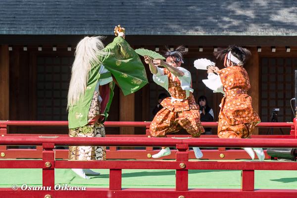 平成29年 北海道神宮例祭 三条神楽 五穀散