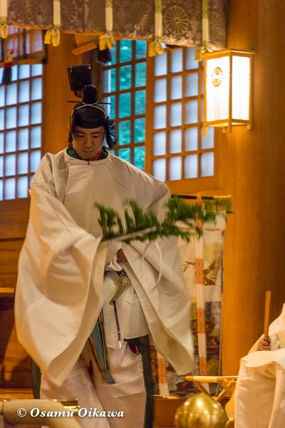 平成29年 北海道神宮例祭 宵宮祭 御神楽 人長舞
