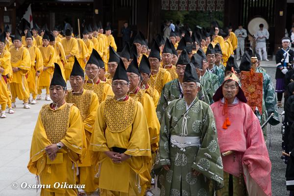 平成29年 北海道神宮例祭 渡御祭 行列奉仕者