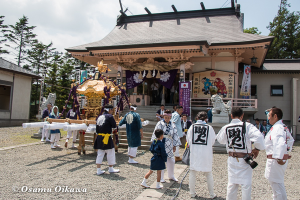 H29 寿都町 寿都神社 渡御祭 神輿 担ぎ手