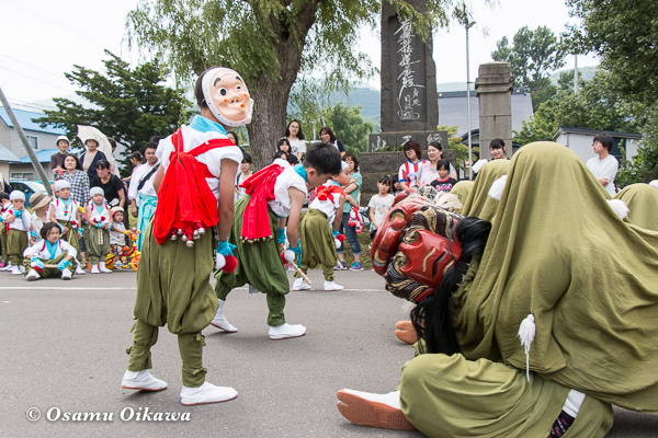 H29 寿都町 寿都神社 渡御祭 寿都松前神楽保存会 面足獅子