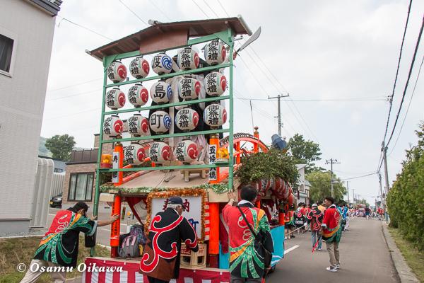 H29 寿都町 寿都神社 渡御祭 山車 後ろ姿