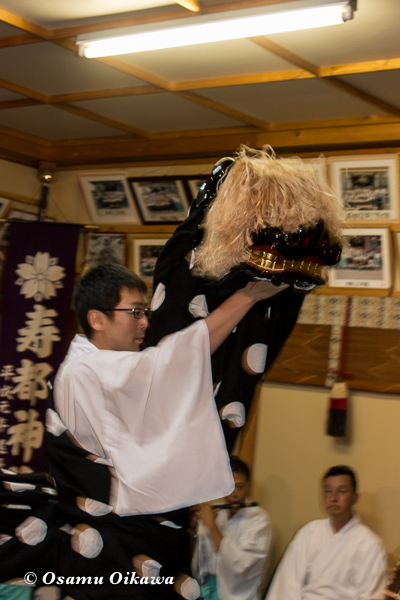 H29 寿都神社 宵宮祭 松前神楽 十二の手獅子舞 五方