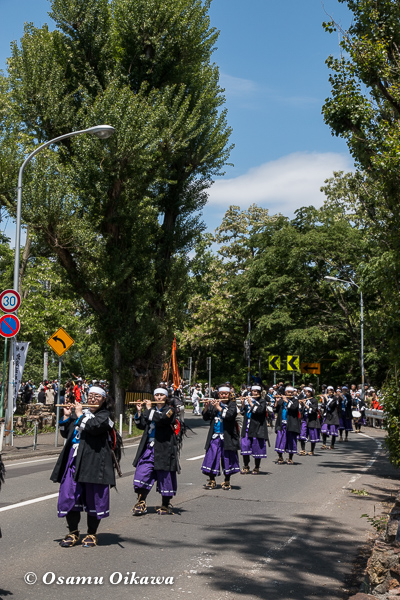 平成29年 北海道神宮例祭 渡御祭 中島公園 ポプラ並木 維新勤王隊
