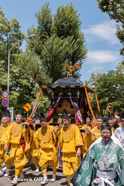 平成29年 北海道神宮例祭 渡御祭 中島公園 ポプラ並木 鳳輦