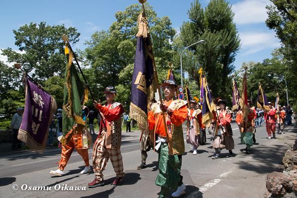 平成29年 北海道神宮例祭 渡御祭 中島公園 ポプラ並木 行列