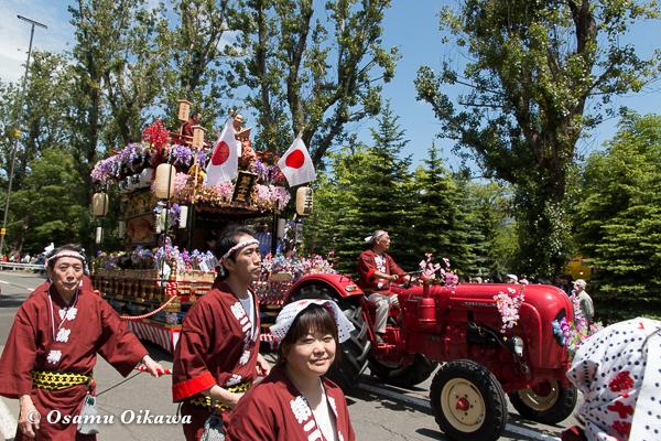平成29年 北海道神宮例祭 渡御祭 中島公園 ポプラ並木 山車