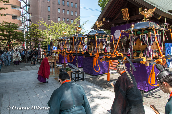 平成29年 北海道神宮例祭 渡御祭 頓宮での神事