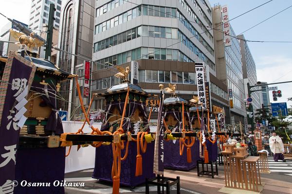 平成29年 北海道神宮例祭 渡御祭 札幌大通りでの神事