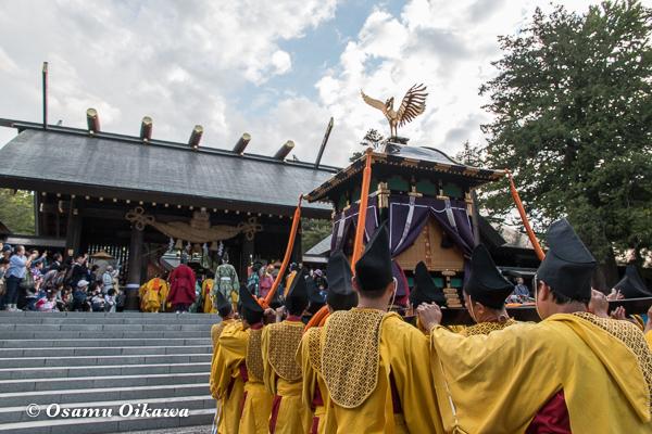 平成29年 北海道神宮例祭 渡御祭 戻る鳳輦