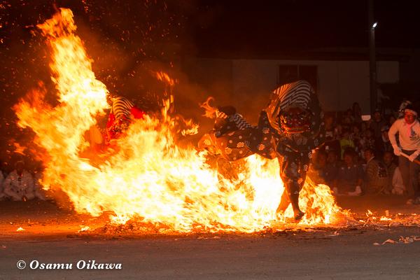 H29 古平町 琴平神社渡御祭 獅子舞 火渡り