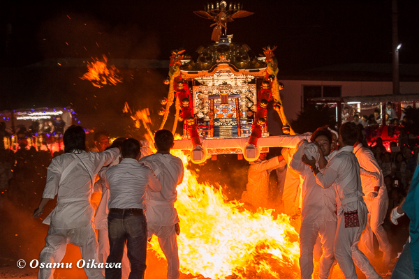 H29 古平町 琴平神社渡御祭 神輿 火渡り