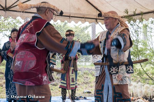 H29 新ひだか町 イチャルパ 先祖供養祭 アイヌ文化交流会 アイヌ古式舞踊 エムシリムセ
