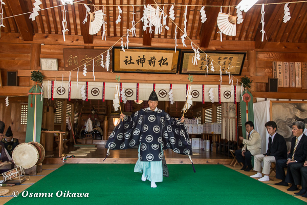 平成29年 松前神社 本祭 松前神楽 福田舞