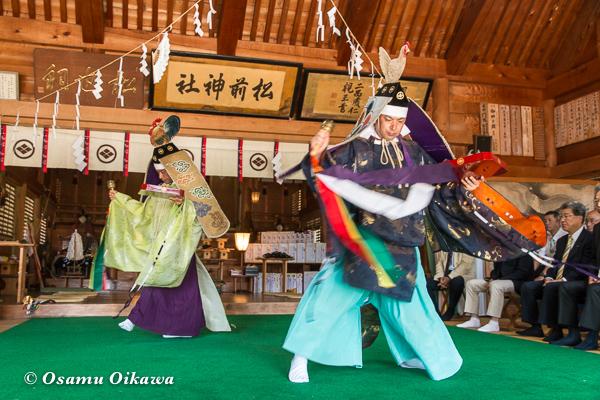平成29年 松前神社 本祭 松前神楽 二羽散米舞
