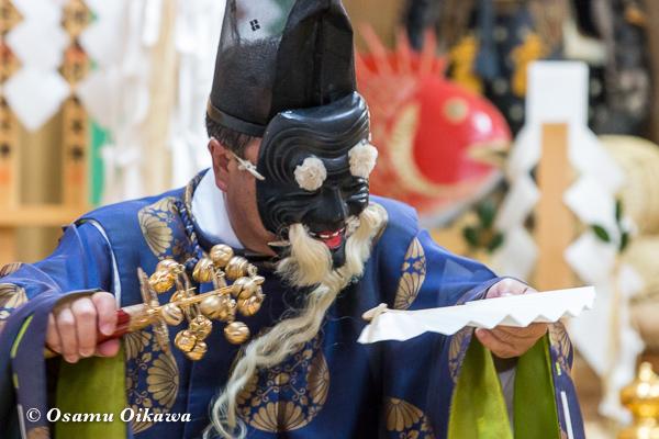 平成29年 せたな町 事比羅神社宵宮祭 松前神楽 三番叟