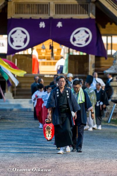 平成29年 せたな町 事比羅神社宵宮祭 お祓いに向かう神社行列