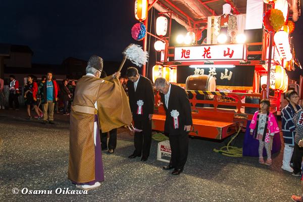 平成29年 せたな町 事比羅神社宵宮祭 山車のお祓い