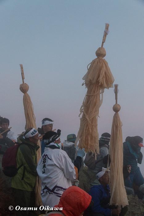 平成29年 青森県弘前市 お山参詣 岩木山にて 頂上 参加者