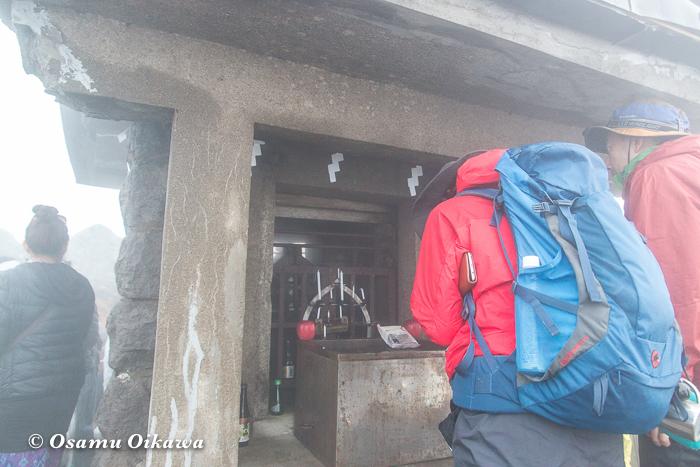 平成29年 青森県弘前市 お山参詣 岩木山にて 頂上 奥の院にて